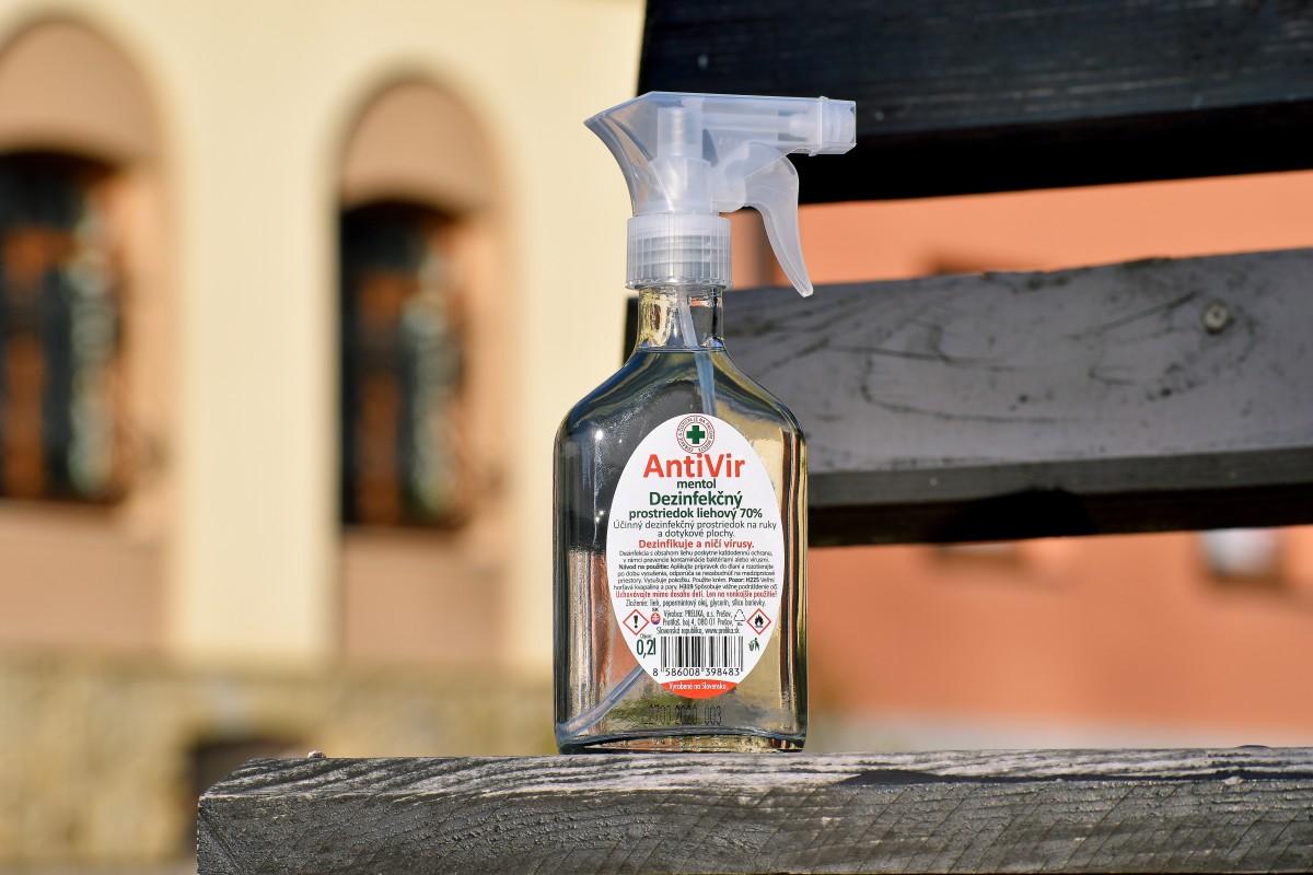 AntiVir - Dezinfekčný prostriedok liehový 70% 200ml