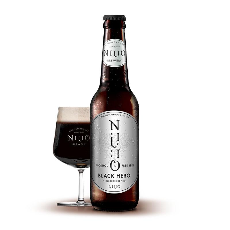Nilio Nealkoholické pivo Black Hero 0,33 l