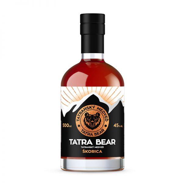 Tatranský Medveď škorica 45% 0,5 l