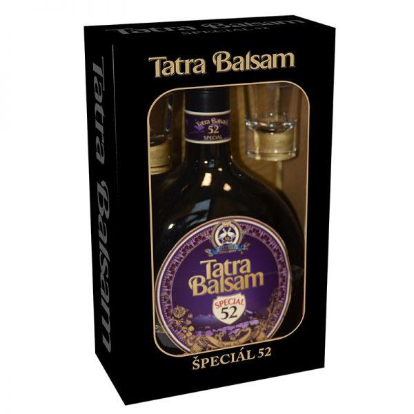 TATRA BALSAM Bylinný likér Špeciál 52% 0,7l + 2 poháre