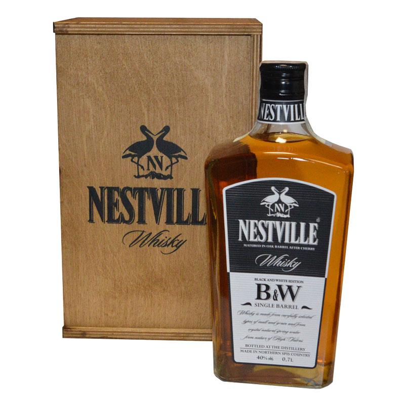 Black & White Single Barell Whisky 40% 0,7 l Kazeta NESTVILLE whisky