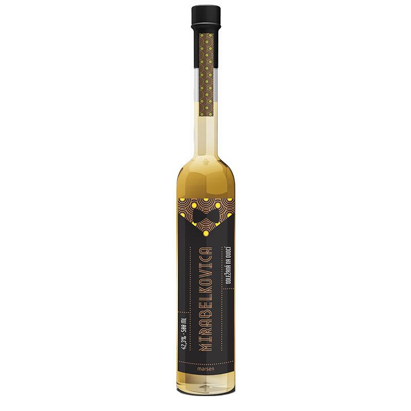 Mirabelkovica 42,3% 0,5 l destilát odležaný na ovocí Marsen