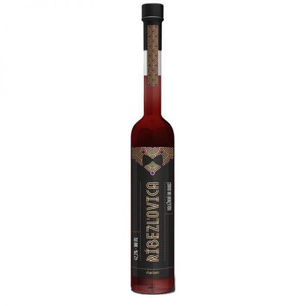 Ríbezľovica 42,3% 0,5 l destilát odležaný na ovocí Marsen