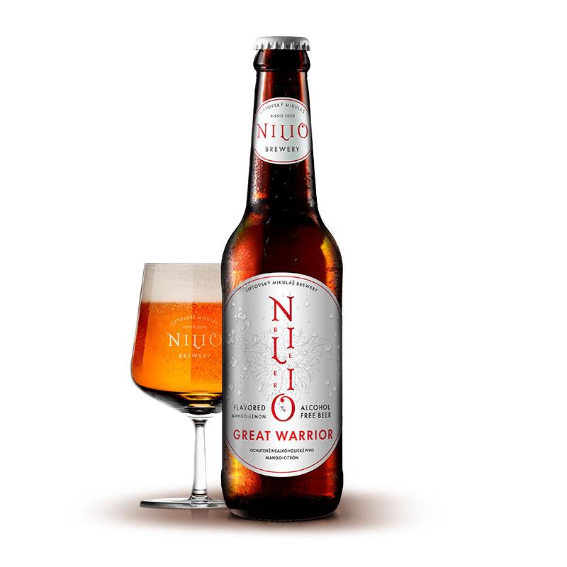 Nilio Nealkoholické pivo Great Warrior 0,33 l